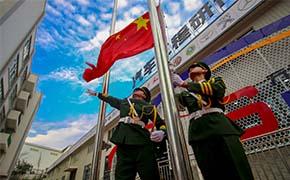 国旗护卫队守护美丽校园