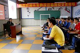 巡讲完后,没来得及休息的朱军大师接着和万通的老师们进行分享和交流。